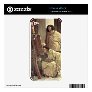 Alma-Tadema | A Visit to the Studio, 1873 Decals For The iPhone 4S