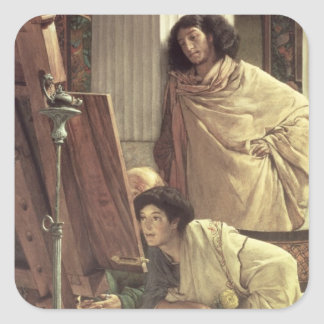 Alma-Tadema | A Visit to the Studio, 1873 Square Sticker