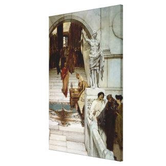 Alma-Tadema | An Audience at Agrippa's, 1875 Canvas Print