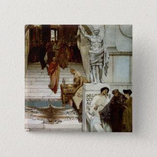 Alma-Tadema | An Audience at Agrippa's, 1875 Pinback Button