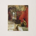 "Alma-Tadema | An Oleander, 1882 Jigsaw Puzzle<br><div class=""desc"">Image:15128  An Oleander,  1882 (oil on panel). Alma-Tadema,  Sir Lawrence (1836-1912). Private Collection.  Art,  Fine Art.</div>"
