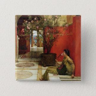 Alma-Tadema | An Oleander, 1882 Pinback Button