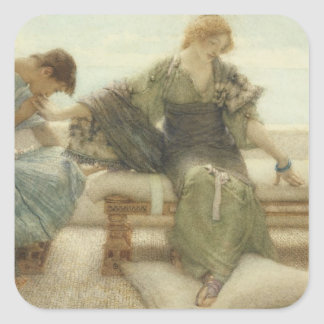 Alma-Tadema | Ask me no more, 1886 Square Sticker