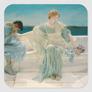 Alma-Tadema | Ask me no more, 1906 Square Sticker