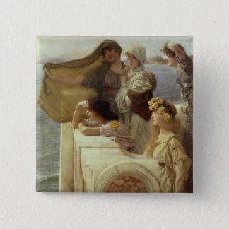 Alma-Tadema | At Aphrodite's Cradle, 1908 Button