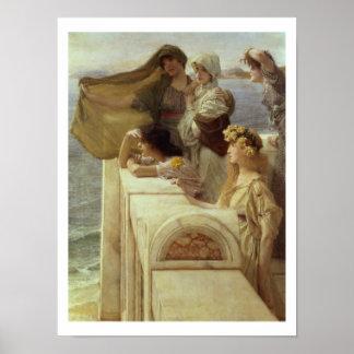 Alma-Tadema | At Aphrodite's Cradle, 1908 Poster