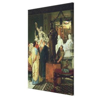 Alma-Tadema   Dealer in Statues Canvas Print