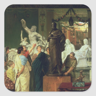 Alma-Tadema | Dealer in Statues Square Sticker