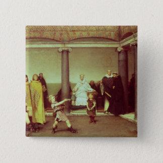 Alma-Tadema | Education of Children of Clothilde Pinback Button