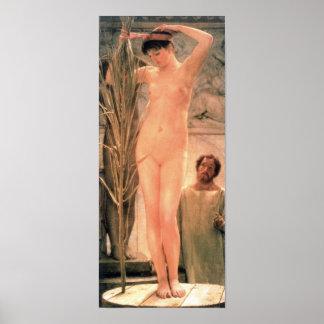 Alma-Tadema - el modelo de un escultor Póster