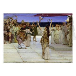 Alma-Tadema el   un esmero al Bacchus Tarjeta De Felicitación