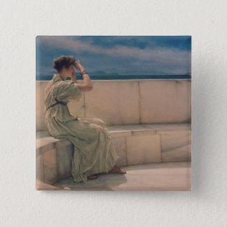 Alma-Tadema | Expectations, 1885 Pinback Button