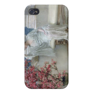 Alma-Tadema | Her eyes are with her thoughts� iPhone 4 Cases