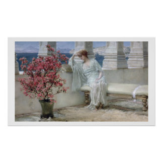 Alma-Tadema | Her eyes are with her thoughts� Poster