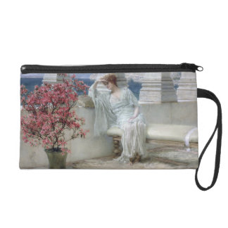 Alma-Tadema | Her eyes are with her thoughts� Wristlet Purse