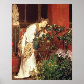 Alma-Tadema | In the Peristylum, 1866 Poster