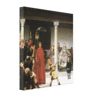 Alma-Tadema - la educación de los niños Clovis Impresión En Lienzo