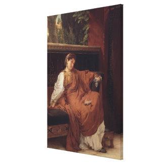 Alma-Tadema | Lesbia Weeping over a Sparrow Canvas Print