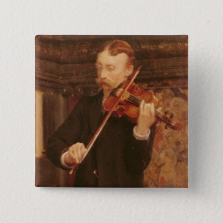 Alma-Tadema | Maurice Sons playing the Violin Pinback Button
