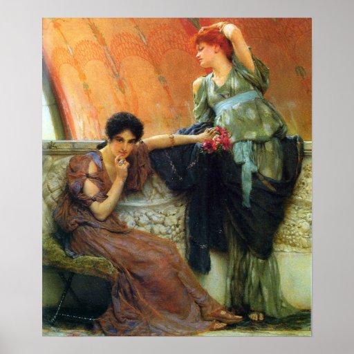 Alma-Tadema - rivales inconscientes, detalle Póster