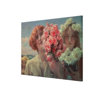 Alma-Tadema | Summer Offering, 1911 Canvas Print