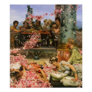 Alma-Tadema - The roses of Heliogabalus detail 2 Poster