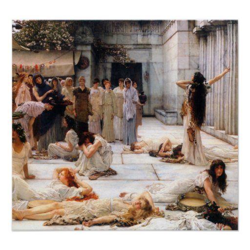 Alma-Tadema - The women of Amphissa, detail Poster