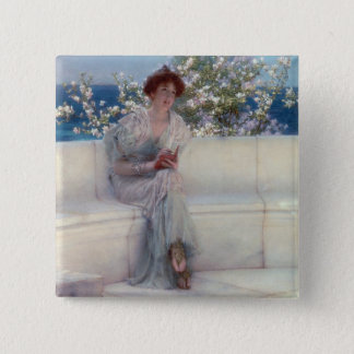 Alma-Tadema | The Year is at the Spring Pinback Button