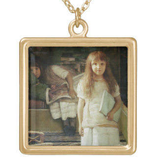 Alma-Tadema | This is our Corner, 1873 Gold Plated Necklace