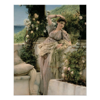 Alma-Tadema | 'Thou Rose of All the Roses', 1885 Poster
