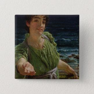 Alma-Tadema | Una Carita, 1883 Pinback Button