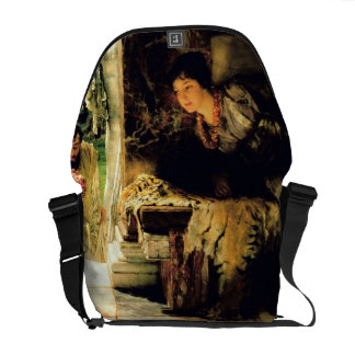 Alma-Tadema | Welcome Footsteps, 1883 Courier Bag