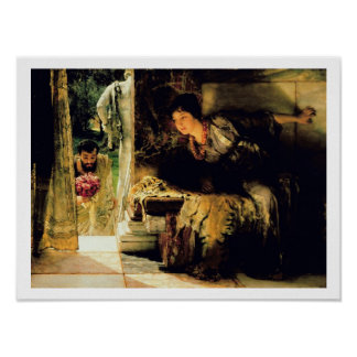 Alma-Tadema | Welcome Footsteps, 1883 Poster
