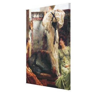 Alma-Tadema | Who Is It?, 1884 Canvas Print