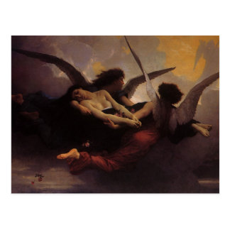 Alma traída al cielo por Bouguereau arte del Postal
