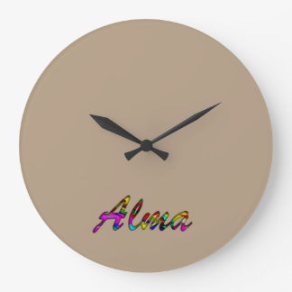 Alma Wall Clock for Home Decor in Browins Style