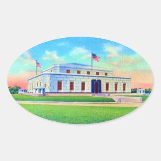 Almacén de oro de Estados Unidos, postal 1938 Pegatina Ovalada