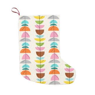 Almacenamiento colorido retro del navidad de las bota navideña pequeña