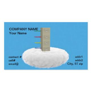 almacenamiento de fichero de la nube tarjeta de negocio