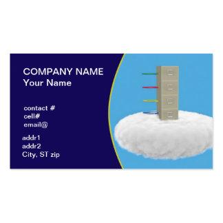 almacenamiento de fichero de la nube plantilla de tarjeta de negocio