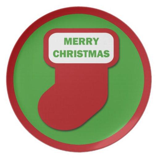 Almacenamiento de las Felices Navidad Platos De Comidas