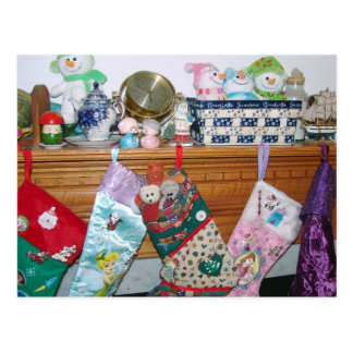 Almacenamiento de las Felices Navidad Tarjetas Postales