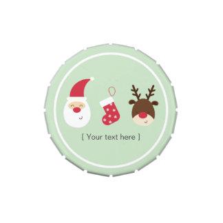 Almacenamiento de Santa, del navidad y reno Frascos De Dulces