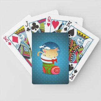 Almacenamiento del navidad baraja cartas de poker