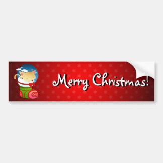 Almacenamiento del navidad pegatina de parachoque