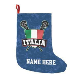 Almacenamiento del navidad de la bandera de Italia Calcetín Navideño Pequeño