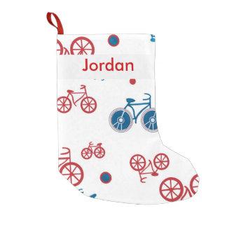 Almacenamiento del navidad de la bici calcetín de navidad pequeño