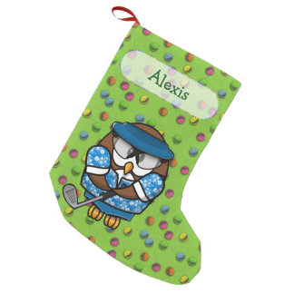 almacenamiento del navidad del búho del golfista calcetín navideño pequeño