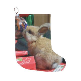 almacenamiento del navidad del conejo de conejito calcetín de navidad grande