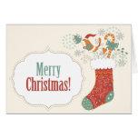 Almacenamiento del navidad del pájaro tarjetas